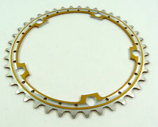 Gold Chainring Anodized Rino 42T 144 Bcd Drilled Fits Campagnolo Cranksets NOS