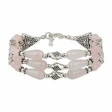"Glee Rose Quartz 7"" Gemstone Bracelet for Women"