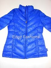 NEW WOMENS LADIES CALVIN KLEIN DESIGNER DOWN FILLED PACKABLE BLUE JACKET COAT M