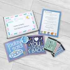 BABY SHOWER LETTER TO DADDY FROM MUMMY'S TUMMY GIFT MILESTONE CARDS
