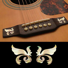 Guitar Bridge Inlay Stickers Decals Little Wing (White Pearl) 2pcs/set
