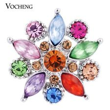 Vocheng 18mm Colorful Crystal Button Chunk Charm Vn-544
