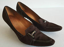 Women's TOD'S BROWN SUEDE PUMP HEELS SIZE 8.5 US - 39 EUR tods