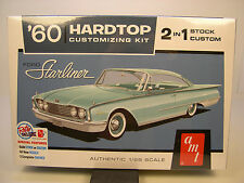 AMT 1:25 SCALE RETRO DELUXE 1960 FORD STARLINER 2n1 PLASTIC MODEL CAR KIT