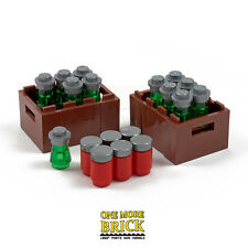 LEGO Drinks Crate container with beer bottles and coke cans