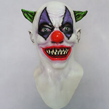 Creepy Giggles Scary Clown Mask Halloween horrible Full Head & Neck Latex Mask