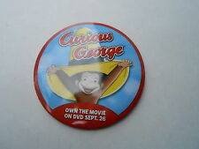 "VINTAGE 3"" PINBACK BUTTON #44- 040 - CURIOUS GEORGE MOVIE"