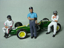3  FIGURINES 1/43  SET 83   ASCARI  CLARK  MAC LAREN   VROOM  UNPAINTED  FIGURES
