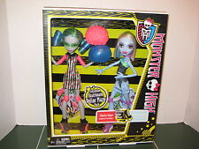 Monster High Exclusive Ghoulia Yelps and Abbey Bominable Dolls Roller Maze Set