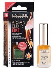 EVELINE  Argan Elixir 8 in 1 Exklusives Arganöl für Nagelregeneration 12ml