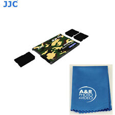 JJC MCH-SD4YG Memory Card Holders fits 4 SD Cards Credit card size keychain hole