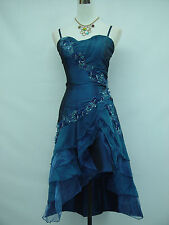 Cherlone Blue Prom Cocktail Ball Party Bridesmaid Wedding Evening Dress Size 14