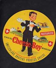 Ancienne étiquette Fromage  Suisse   BN10256 Gruyère Cheese Boy