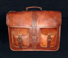 Leather Bag Brown Leather Briefcase  Retro Handbag Satchel Hip Bag  Shoulder Bag