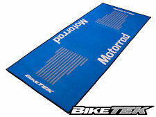 BMW MOTORRAD GS BLUE MOTORCYCLE GARAGE MAT WORKSHOP NON-SLIP BACKING PIT MAT