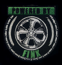 Powered By Fink patch Hot Rod Drag Race Motorcycle Rat Fink Ed Roth