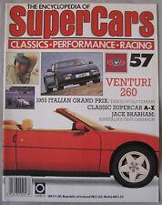 SUPERCARS magazine Issue 57 Featuring Venturi 260 Cutaway & poster, Jack Brabham