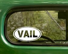 Vail Colorado Decal Sticker, 2 Oval for Travel Mug, Car