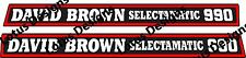 David brown 990 selectamatic tractor stickers/decals