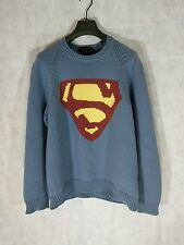 Marc Jacobs Chunky Cashmere SUPERMAN Sweater Size L Made in Italy