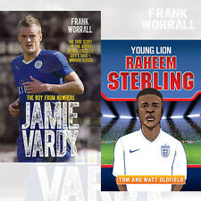 Premier League Football Champion 2 Books Collection Jamie Vardy,Raheem Sterling