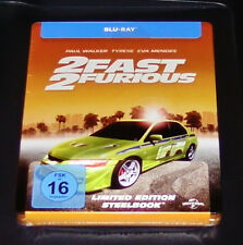 2 FAST 2 FURIOUS  EXKLUSIVE LIMITED STEELBOOK EDITION BLU RAY NEU & OVP