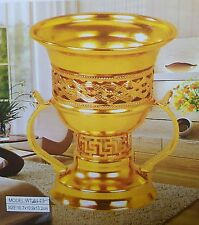 Decorative Incense Bakhoor Burner Oil Bakhur Metal OUD WOOD Mabkhara Gift GOLD
