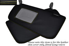 YELLOW STITCHING FITS HYUNDAI GETZ 2008-2011 2X SUN VISORS LEATHER COVERS ONLY