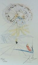 SALVADOR DALI The groom jumping mountains HAND NUMBERED PLATE SIGNED LITHOGRAPH