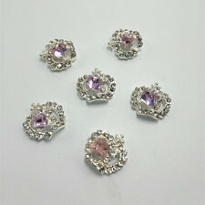 10pcs 3D Nail Art Decoration Silver Rhinestone Crystal Alloy Glitter Jewelry D5