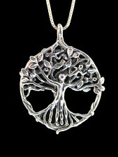 """Solid Sterling Silver TREE OF LIFE PENDENT and 18"""" sterling chain by Marty Magic"""