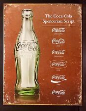 Coca Cola Retro Logo TIN SIGN Antique Bottle Poster Metal Wall Decor