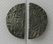 Collectable 1165-1214 Scotland Short Cross & Stars Issue Penny - Cut Half