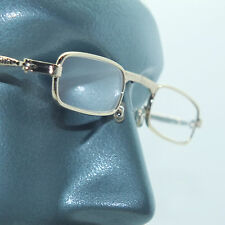 Folding Reading Glasses Petite Small Gold Frame Lightweight Lens Strength +2.75