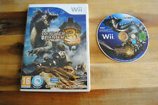 Jeu MONSTER HUNTER 3 TRI pour Nintendo Wii PAL SANS NOTICE (CD OK)