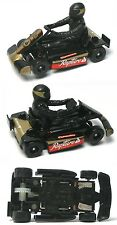 2015 Micro Scalextric G1120T Race Karts BLACK 1:64 HO Slot Car UNUSED