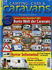 Camping Cars Caravans 9/05 2005 Hymer Eriba Living 505 TEC Travel King 430 TE Tu