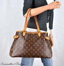 LOUIS VUITTON BATIGNOLLES HORIZONTAL MONOGRAM LEATHER SHOULDER BAG HANDBAG PURSE