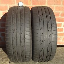 2 x 235/55/17 99H BRIDGESTONE Dueler HP Sport part worn tyres 2355517 235 55 27
