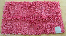 "NEW ELITE COLLECTION PAPER CHINDI RUG CARPET,FLOOR MAT PINK 27"" x 45"",68 x114 CM"