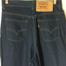 Vintage 70s Levis Denim Jeans 30 X 34 Blue Orange Tab Made In USA 25414 2516