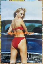 Vtg 80's Photo/Sexy Blonde Wearing Swimsuit Bikini Posed Back Side 1183
