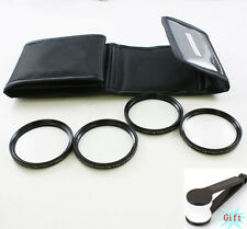 55mm Close Up +1 +2 +4 +10 Macro Filter Lens Set for Canon Nikon Sony camera
