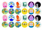 24 MINI ADVENTURE TIME EDIBLE RICEPAPER CUPCAKE CUP CAKE DECORATION IMAGE TOPPER