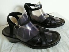 DANSKO Women's black Leather sandals/comfort shoes Size EU 37 US 6 6.5