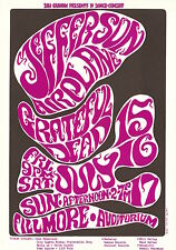 MINT Grateful Dead Jefferson Airplane 1966 BG 17 Fillmore Poster