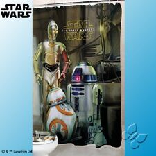 DISNEY STAR WARS The Force Awakens R2D2 C3PO Shower Curtain Bath Bathroom Decor