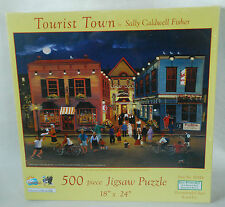 Sunsout Jigsaw Puzzle 500 pc Unopened Tourist Town by Sally Caldwell Fisher