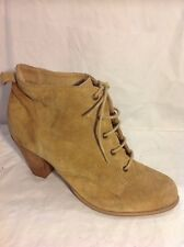 Office London Beige Ankle Suede Boots Size 41