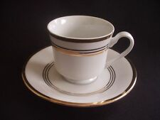 THE HOME STORE - TEA/COFFEE CUP & SAUCER - WHITE WITH GOLD/GILT BANDING